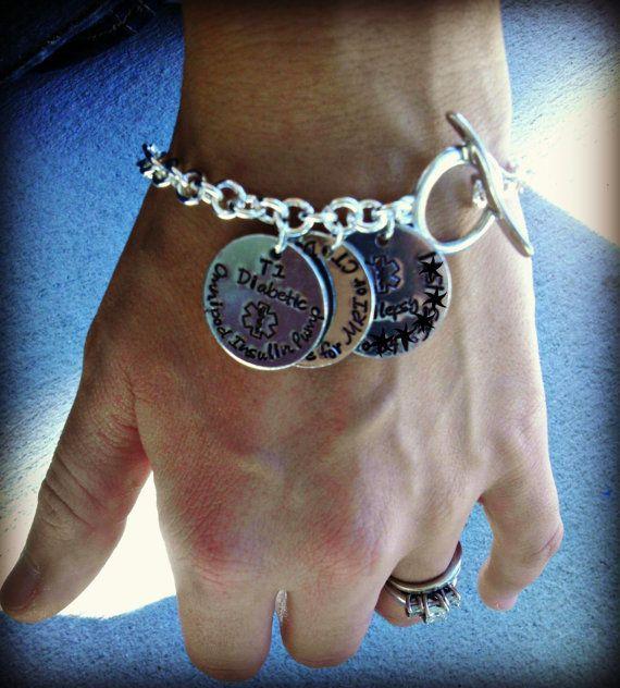 Medical Bracelet  Medical Alert Bracelet  by CharmletteDesigns, $16.00
