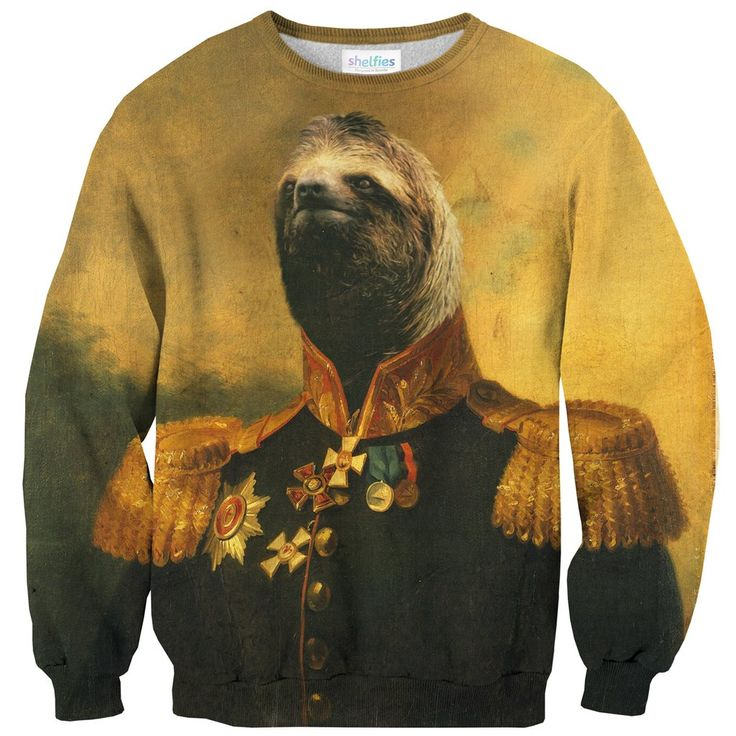 Commander Sloth Sweater-Shelfies-XS-  All-Over-Print Everywhere - Designed to Make You Smile