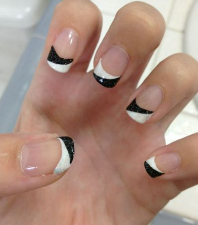 Black And White Nail Designs 2014