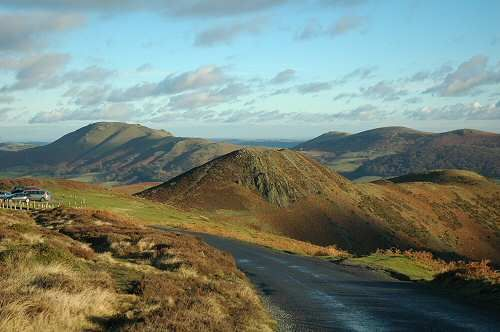 The Long Mynd, Shropshire. A.E. Housman's 'blue remembered hills'.