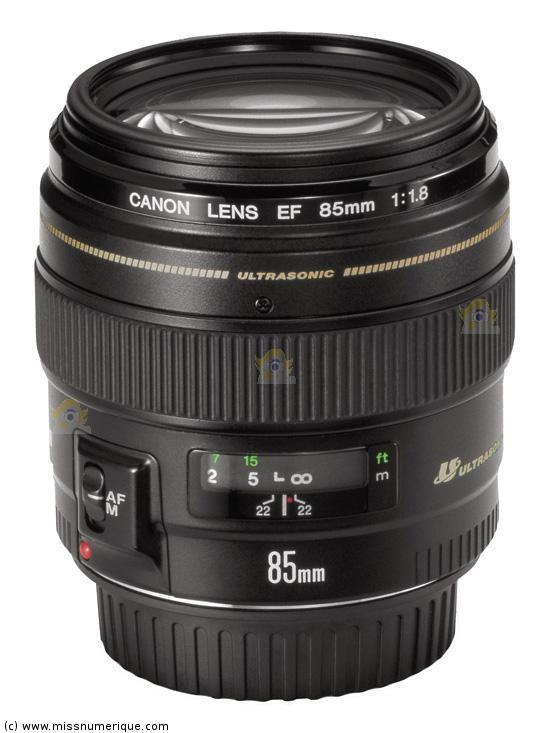 CANON EF 85 mm f/1.8 USM objectif photo
