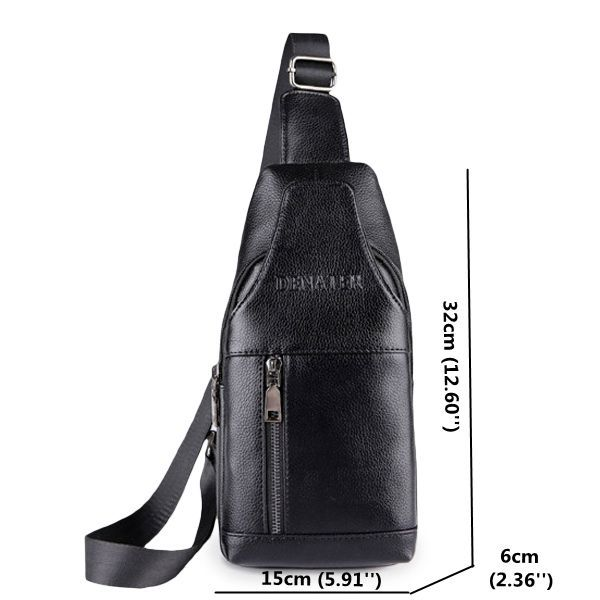 Waterproof PU Leather Crossbody Bag Solid Shoulder Bag Casual Chest Bag For Men is worth buying - NewChic Mobile.