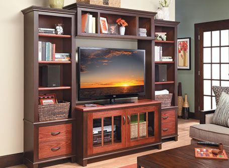 Contemporary Entertainment Center | Woodsmith Plans – Abundant storage, low cost, a stylish look, simple construction. That about says it all.  Creati…
