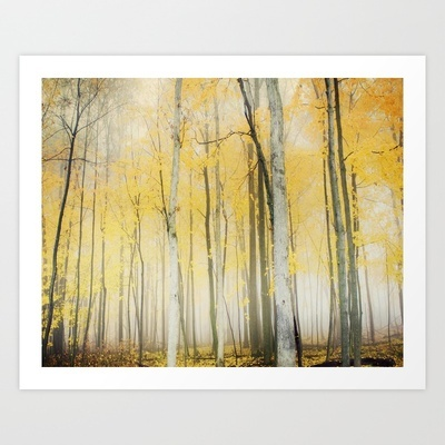 Yellow Art Print by Jenn DiGuglielmo - perfect for a gray and yellow bedroom