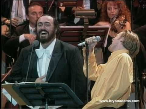 Bryan Adams & Luciano Pavarotti - 'O Sole Mio - YouTube