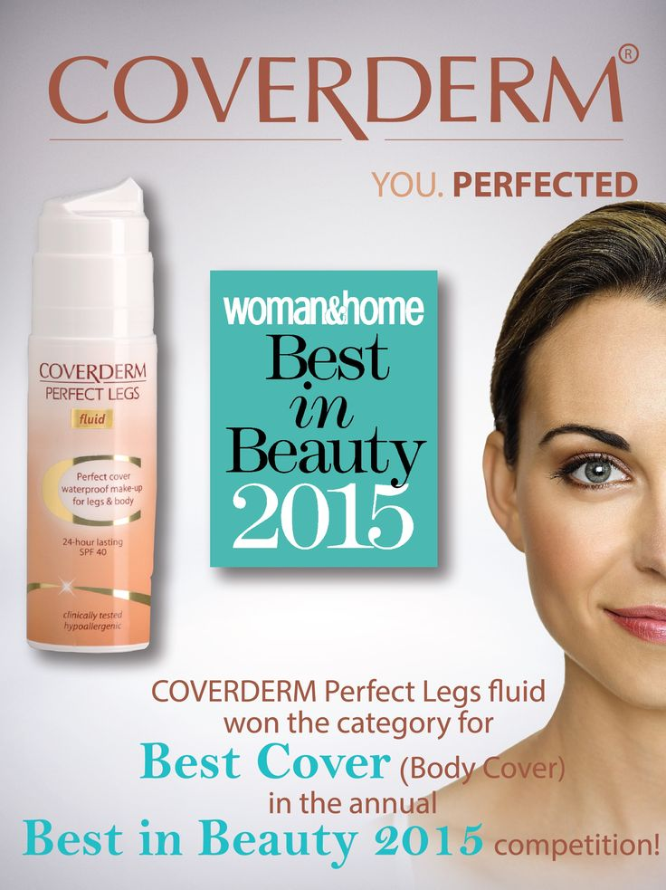 We are proud to announce that COVERDERM Perfect Legs Fluid won Best Cover (body) in the annual Woman & Home S.A Best in Beauty competition!