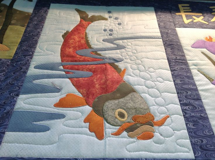17 best images about japanese quilts on pinterest indigo for Koi pond quilt pattern