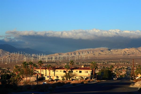 Windmills in Palm Desert, California