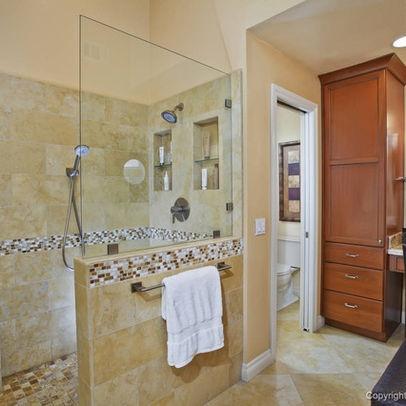 50 Best Doorless Showers Images On Pinterest Bathroom Bathroom Remodeling And Half Bathrooms