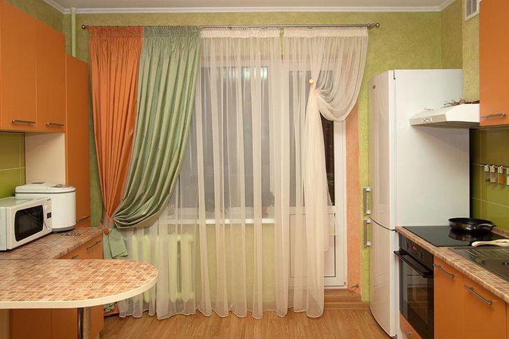 На кухню занавески фото