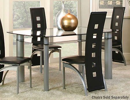 valencia glass dining table art van furniture kitchen