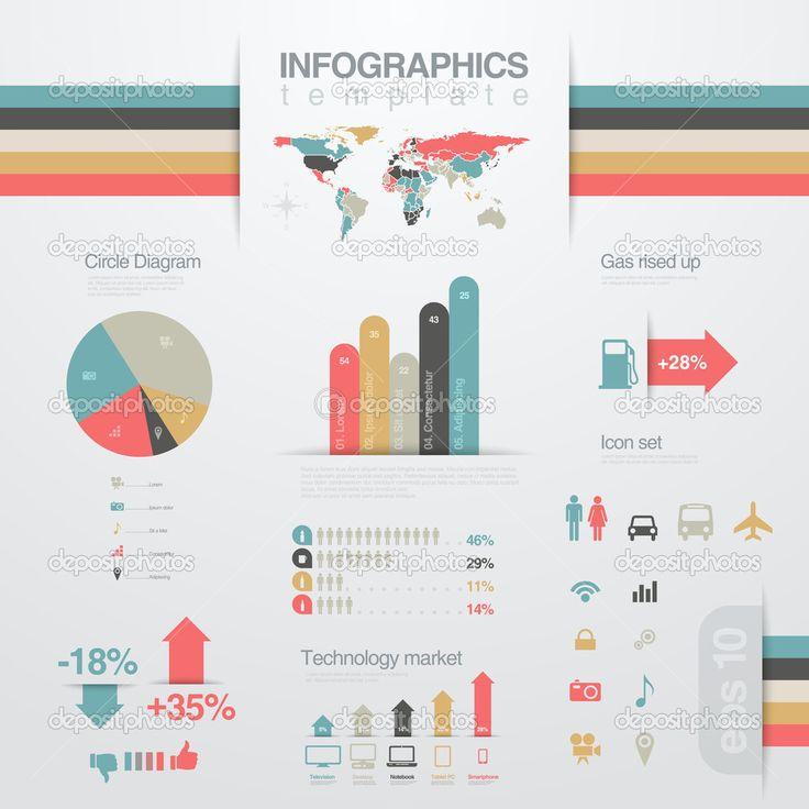 """Infografiken Entwurfsvorlage """"Elemente"""". Geschäftsbericht ..."""