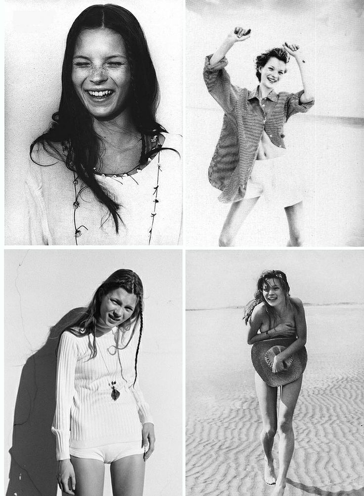 Kate Moss photographed by Corrine Day for The Face in 1990