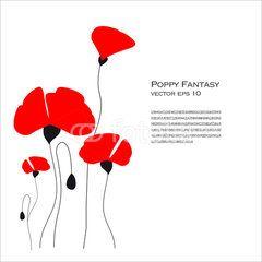 #Poppy Fantasy #Vector #Illustration #flower