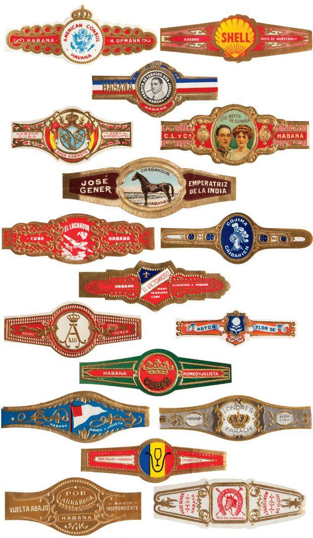 Various Vintage Cuban Cigar Bands