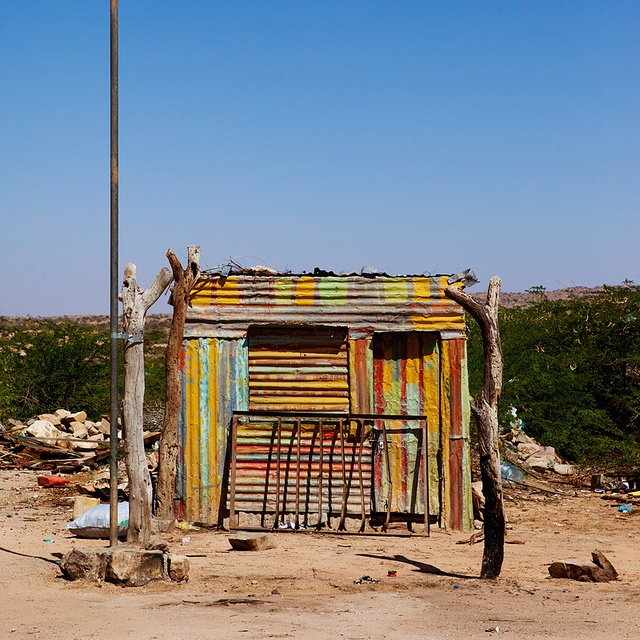 Colorful Shack in South Africa  by Constantine James, via Flickr