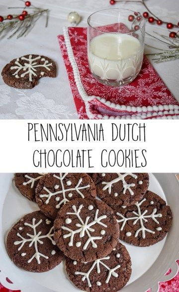 Delicious Pennsylvania Dutch Chocolate Cookies recipe. These heavenly cookies with a hint of cinnamon have the perfect chewy interior