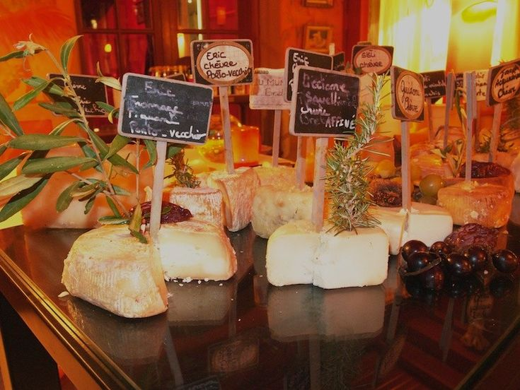 La Signoria Hotel displays more than forty types of Corsican cheese during the summer season