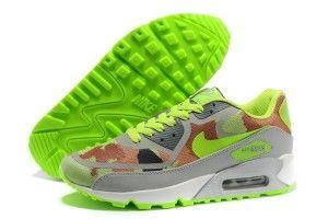 Italia outlet fluorescenti-verdi/khaki/camo/grigio - scarpe nike air max 90 premium tape donna a basso prezzo