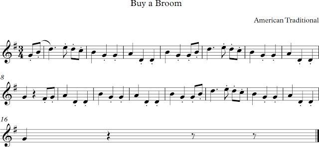 Buy a Broom. Canción Tradicional de Estados Unidos.