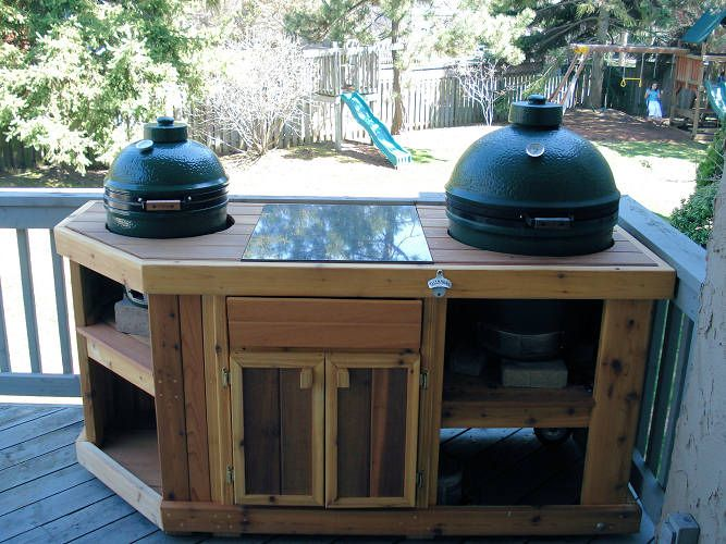 Big Green Egg Corner Table Plans Woodworking Projects
