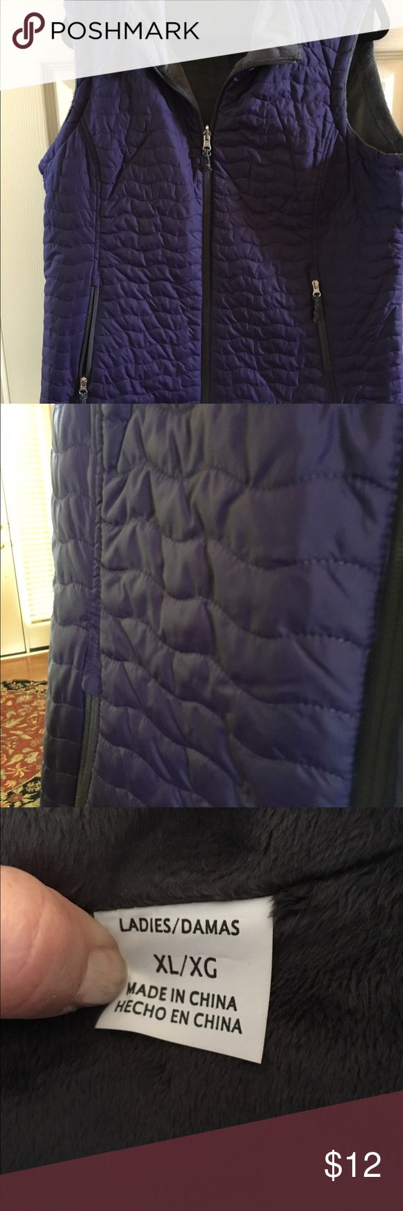 Beautiful Reversible Dusty Purple Vest Quilted ? Fleece? You choose because this one is reversible! In great condition and ready for you to enjoy! Free Country Jackets & Coats Vests