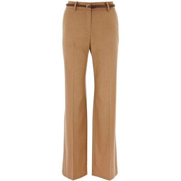 Oasis Flannel trouser (46 BAM) ❤ liked on Polyvore featuring pants, bottoms, calças, jeans, pantalones, women, flannel trousers, flannel pants and beige pants