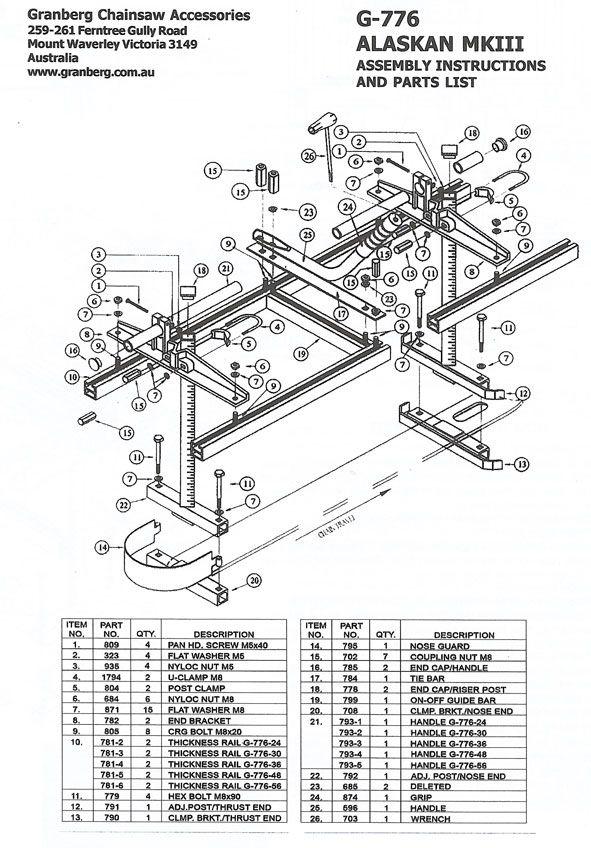 diy chainsaw mill plans - Google keresés                                                                                                                                                      More