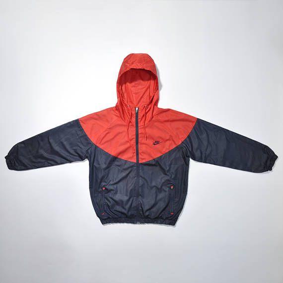 Vintage 90s NIKE Color Block Jacket / Nike Windbreaker / Old school Running Jacket / NIKE Swoosh / NIKE Run Jacket / Vintage Nike