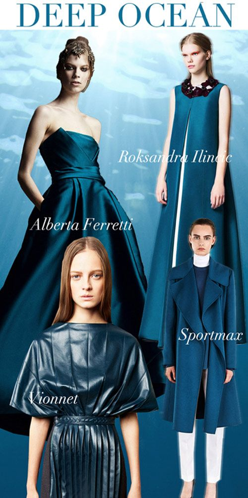 Pre-Fall 2014, women's color trends, deep ocean blue