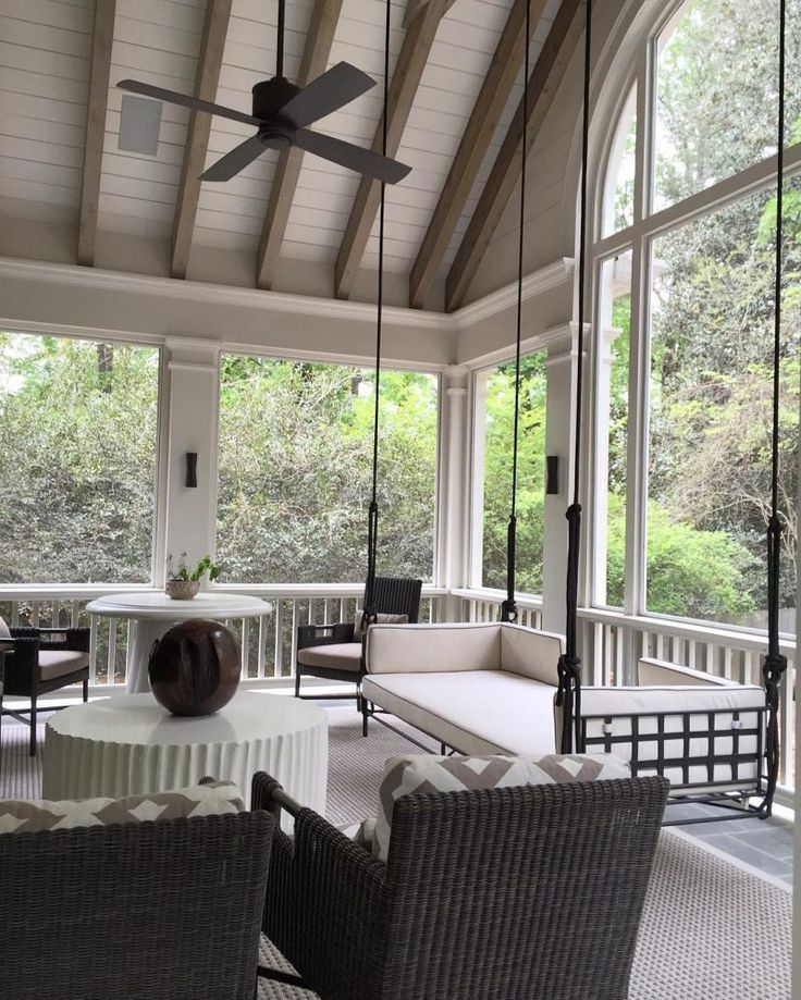 I'm prepping for my trip to New Orleans this weekend and continue to be inspired by charming Southern Porches that act as an extension of the home inside.