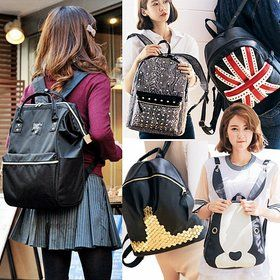 Gmarket - LULUBAG Women`s stud backpack / patched / patterned ...