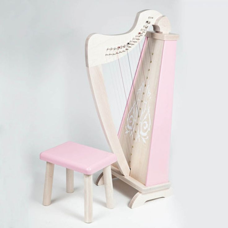 Harp & matching stool.