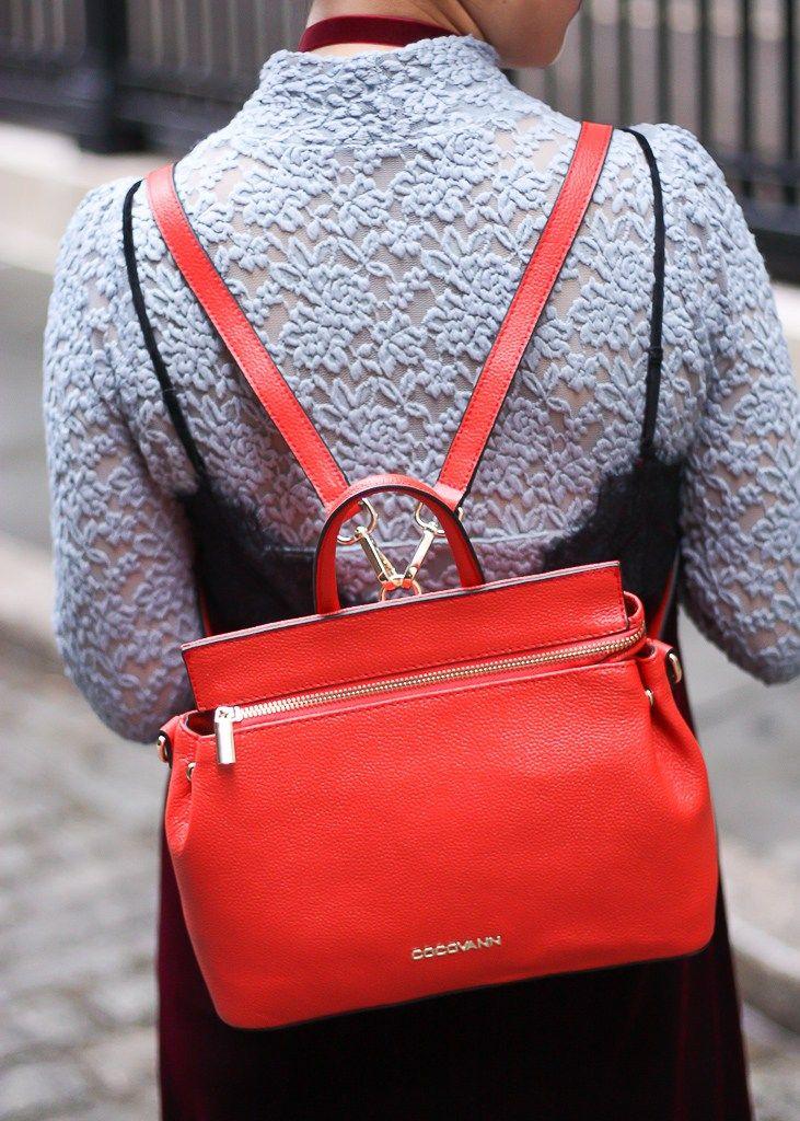 layersofchic schoolgirl style velvet slip dress red backpack cocvann