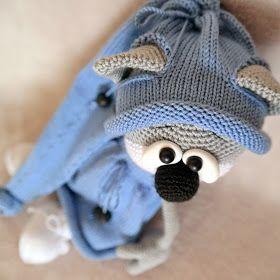 Малышка в голубом платье,зовут её Мариника  Связана крючком  Лапки и голова на шплинтах  Наполнитель синтепух ...