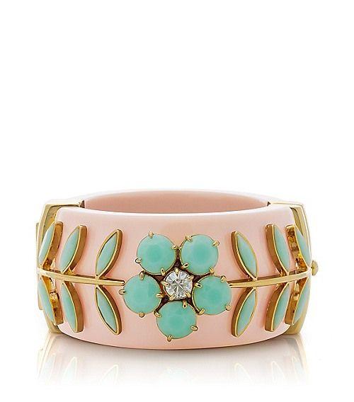 Tory BurchCecil Floral Riviera Hinge Bracelet