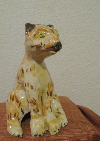 Cat Sculpture Post on Critters and Tales.com