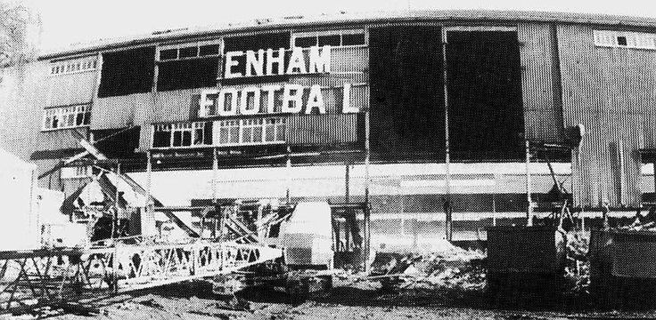 Here is another picture showing the demolition of the old West Stand along the High Road.