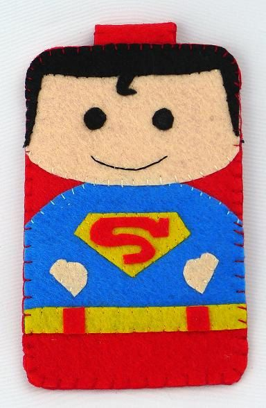 Hero collection Handmade Superman iphone, iphone 4S felt cell phone case (FREE SHIPPING). $18.00, via Etsy.