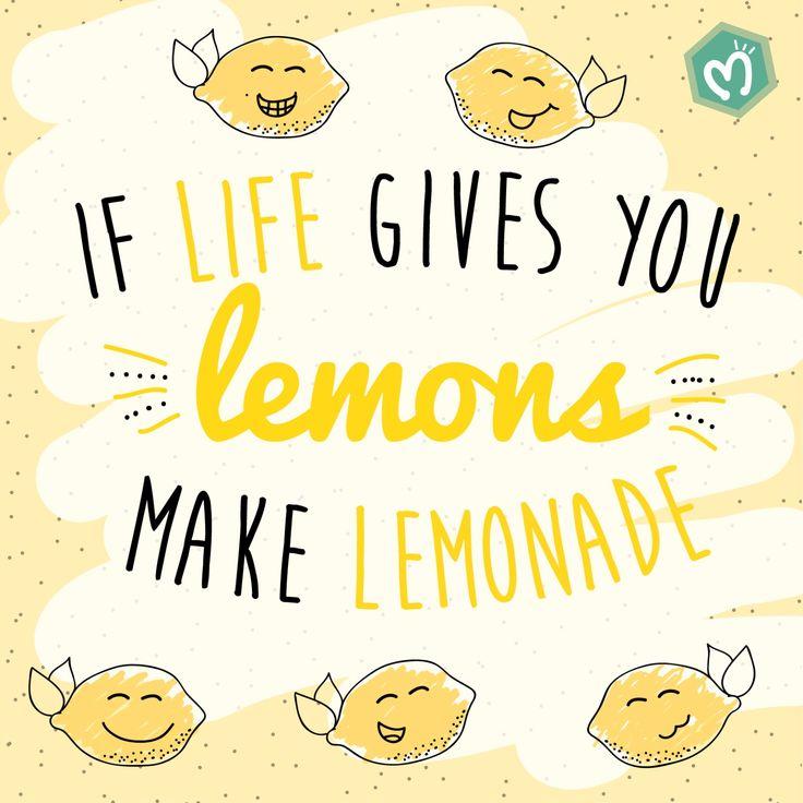 If life gives you lemons make lemonade. #Migas #Gifts #Regalos #Life #Smile Escríbenos 314 855 2090 o ingresa a www.migastienda.co
