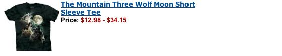 The infamous Three Wolf Moon Shirt: | George Takei's Very Helpful Amazon Reviews