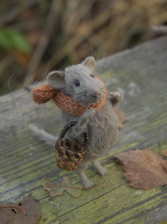 Needle Felted Mice by Natasha Fadeeva. adorable ...