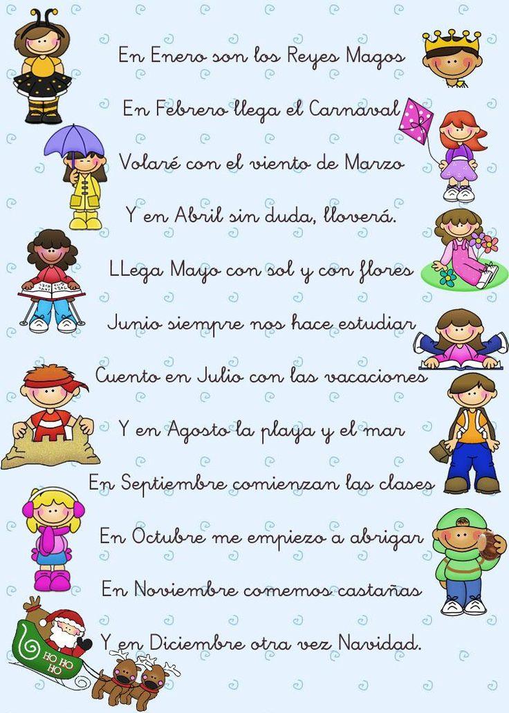 Menta Más Chocolate - RECURSOS y ACTIVIDADES PARA EDUCACIÓN INFANTIL: Poesías de los MESES del AÑO