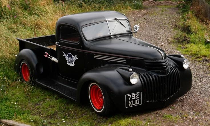 Black Hotrod Truck