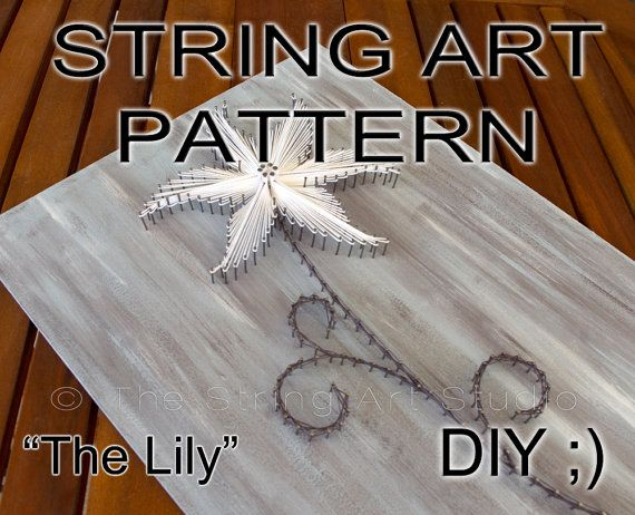String Art Pattern Amp Instructions Quot The Lily Quot Diy String