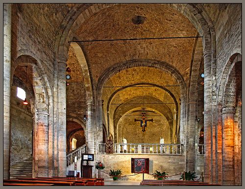 The 12th century Romanesque Cathedral of San Leo, Italy