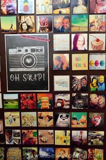 Instagram Inspired Door SNAP! 2013 via SewWoodsy.com