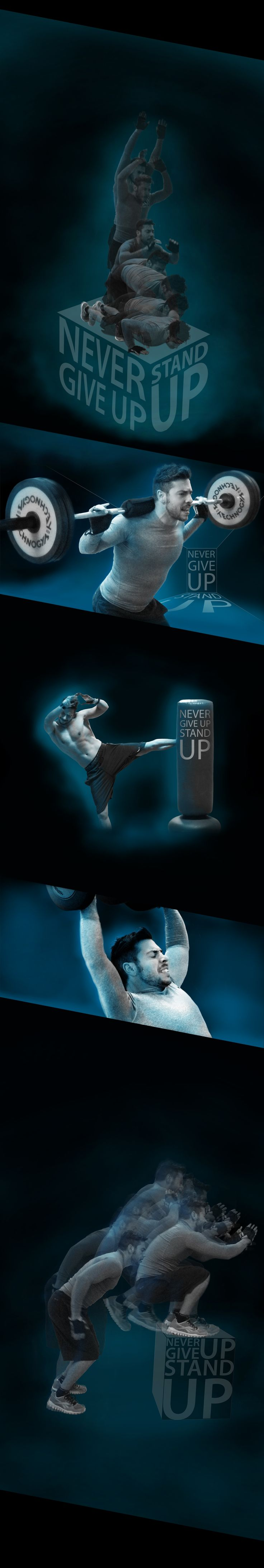 Never Give Up - Stand Up on Behance