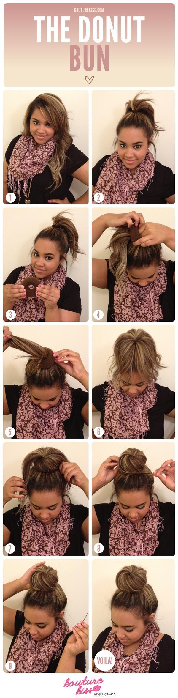Peachy 1000 Ideas About Donut Bun Hairstyles On Pinterest Donut Bun Short Hairstyles Gunalazisus
