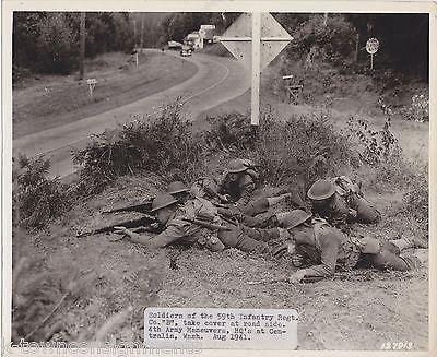 WWI 4th ARMY 59th INFANTRY CENTRALIA WASHINGTON VINTAGE SIGNAL CORPS FILE PHOTO